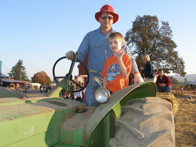 Vintage Tractor Hayride Driver, The Pumpkin Patch