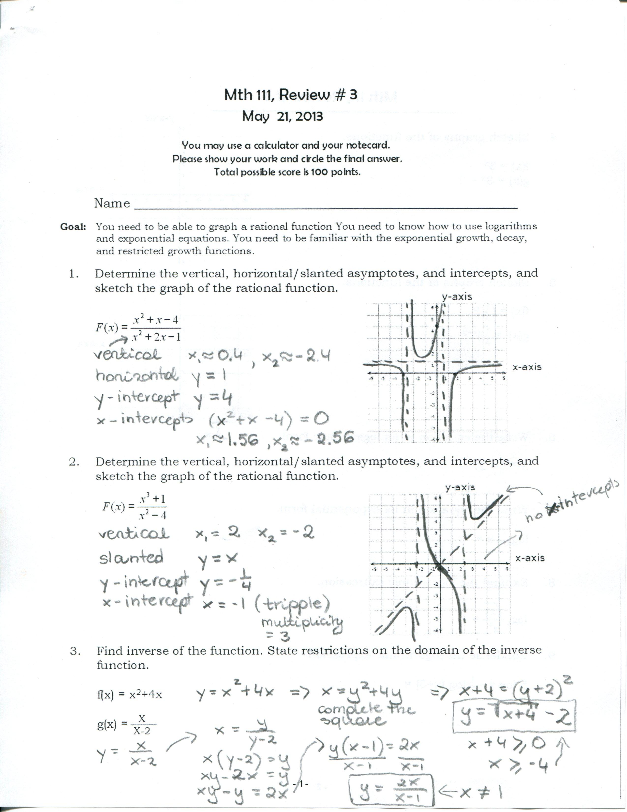 Bea Michalik '� Mathematics 2 6 Finding Horizontal Asymptote Youtube 2 6  Finding Horizontal Asymptote Youtube